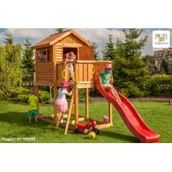 Fungoo MY HOUSE детска площадка с къщичка с пързалка