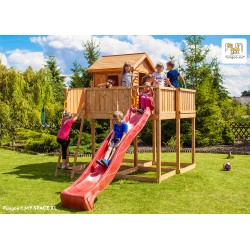 Fungoo MY SPACE XL детска площадка с къщичка с пързалка
