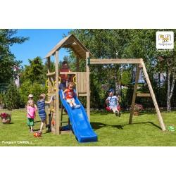 Fungoo CAROL 2 детска площадка с пързалка и люлка