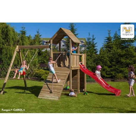 Fungoo CAROL 3 детска площадка с пързалка и люлка