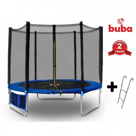 Buba Детски батут 8FT (244 см) с мрежа и стълба