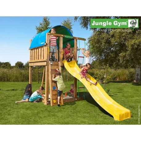 Jungle Gym Vila дървена детска площадка с пързалка