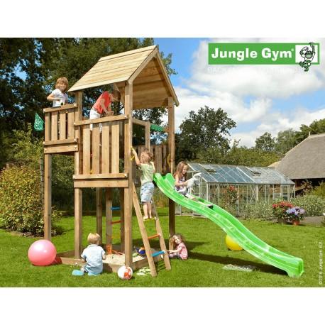 Jungle Gym Palace дървена детска площадка с пързалка