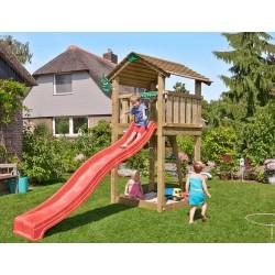 Jungle Gym Cottage дървена детска площадка с пързалка