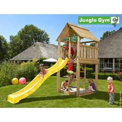 Jungle Gym Cabin дървена детска площадка с пързалка