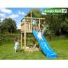 Jungle Gym Lodge дървена детска площадка с пързалка