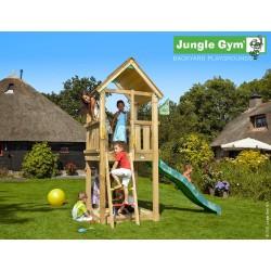Jungle Gym Club дървена детска площадка с пързалка