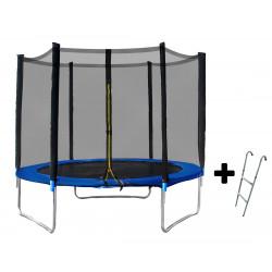 Батут Cosmolino 8ft (252 cm) с мрежа и стълба